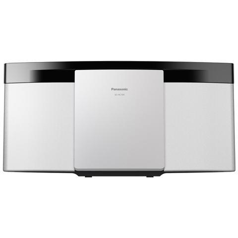 PANASONIC Sistema Micro Hi-Fi SC-HC195EG Lettore CD Supporto MP3 Potenza Totale 20 W USB Bianco