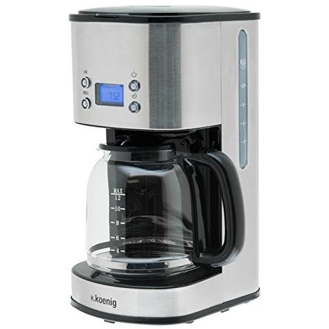 Mg30 macchina del caffe a filtro programmabile, schermo lcd, 12/20 tazze, inox