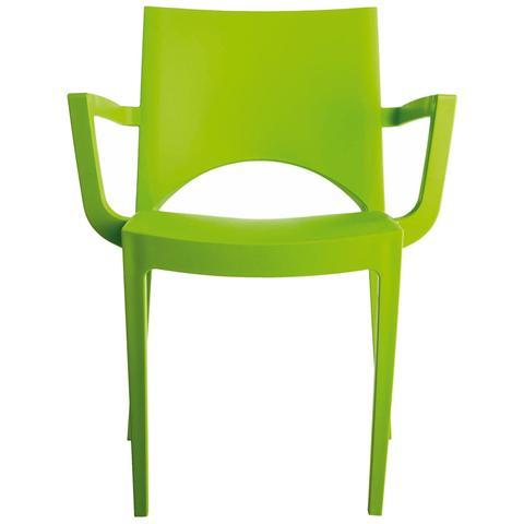 Poltrona Da Giardino Piscina Economica Colorata Verde Mela E Impilabile