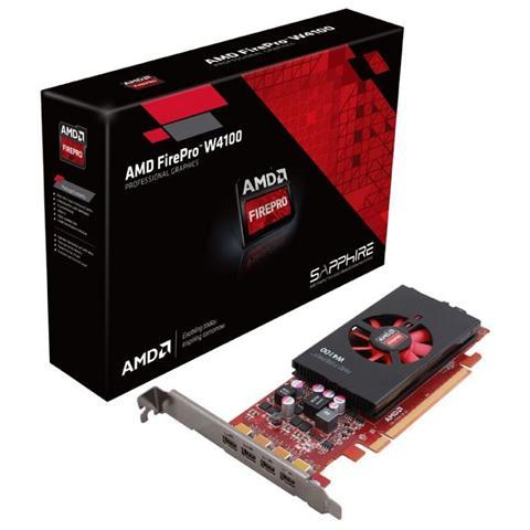 Image of AMD FirePRO W4100 2 GB GDDR5 Pci-E 4 x mini Display Port Low Profile