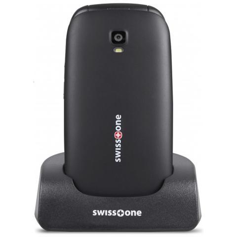 "SWISSTONE BBM 605 Senior Phone Colore Argento Display 2.4"" Bluetooth con Tasti Grandi + SOS Fotocamera"