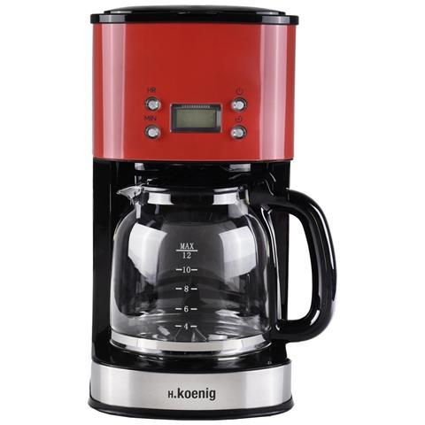 Mg30 macchina del caffe a filtro programmabile, schermo lcd, 12/20 tazze, rosso