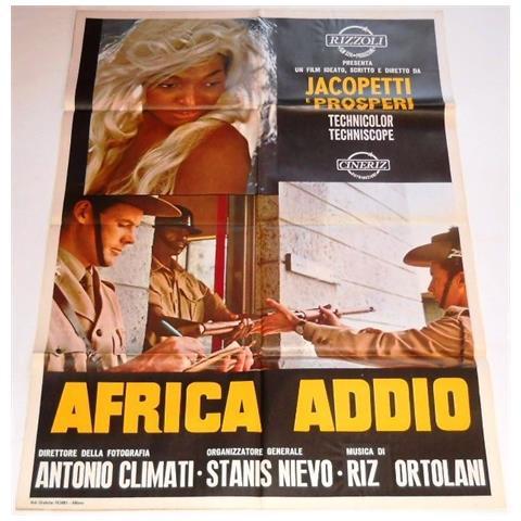 Vendilosubito Manifesto Originale Del Film Africa Addio 1966