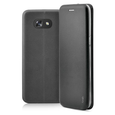 FONEX Flip Cover Custodia a Libro per Samsung Galaxy A3 2017 colore Nero
