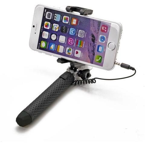 """CELLY Mini Selfie Stick compatibile con smartphone fino a 5.5"""" per una lunghezza massima di 70cm - Nero"""