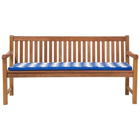 Cuscino Per Panchina Da Giardino Toscana / java Blu Bianco Zigzag 169x50x5cm