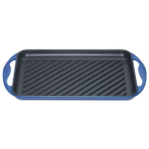 Piastra Grill Rettangolare Dimensioni 32.5x22cm Colore Blu Marsiglia