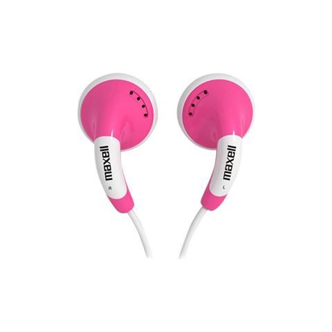 MAXELL Auricolari con Microfono Colore Rosa e Bianco