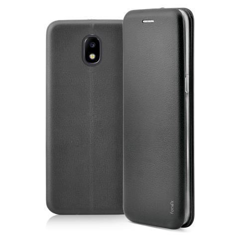 FONEX Flip Cover Custodia a Libro per Samsung Galaxy J3 2017 colore Nero