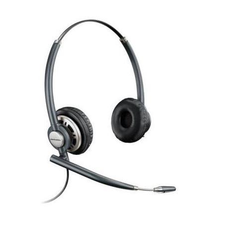 Image of Cuffia Biaurale con Microfono Nero Filo 100 - 7800 Hz 300 Ohm 24 dB 78714-102
