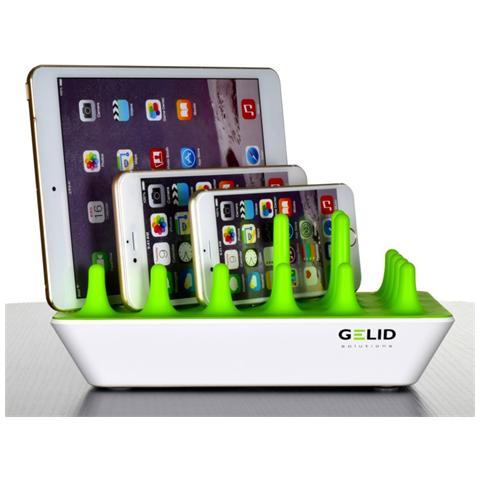 GELID I-CHARGE-ZENTREE - Docking Station 4 Porte USB Ricarica Smartphone e Tablet Zentree