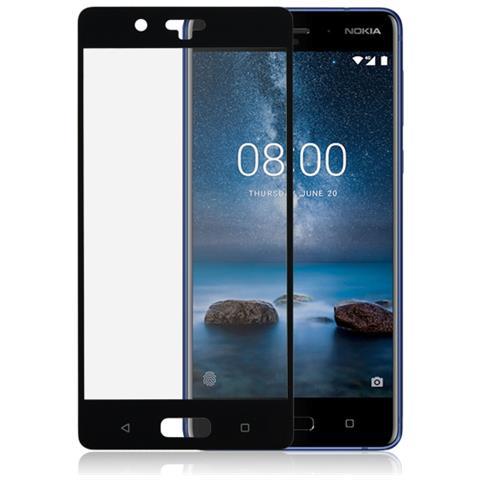 FONEX Mos12823Db Pellicola Protettiva in Vetro Temperato 3D Curvo per Nokia 8 Colore Bordi Nero