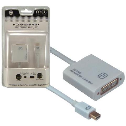 MCL CG-293CAZ Mini DisplayPort DVI Bianco cavo di interfaccia e adattatore