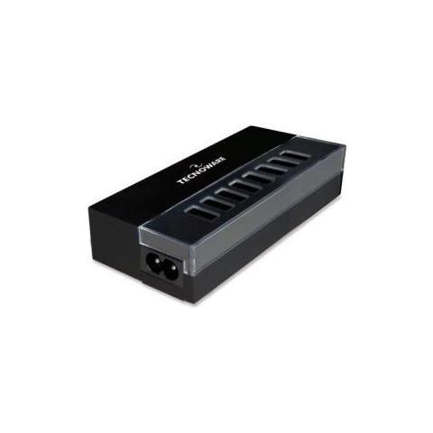 TECNOWARE Caricabatterie da Casa Ufficio Multi USB Nero