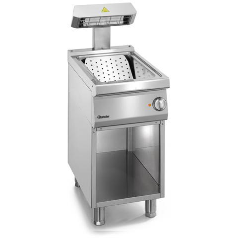 286626 Scaldavivande per patate fritte con basamento neutro 40X70X85