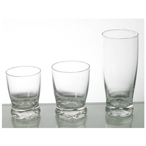 Set 5 Confezioni 3 Bicchieri In Vetro Madison Bibita Cl39