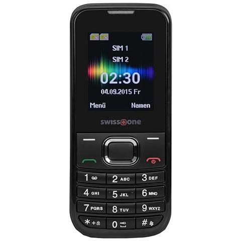"""SWISSTONE SC1230 Display 1.77"""" Dual Sim Bluetooth con Tasti Grandi Fotocamera Colore Nero - Europa"""
