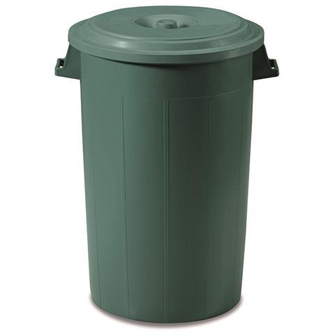 Coperchio Verde Per Bidone, Polietilene, 100% Riciclabile 100/120 Lt