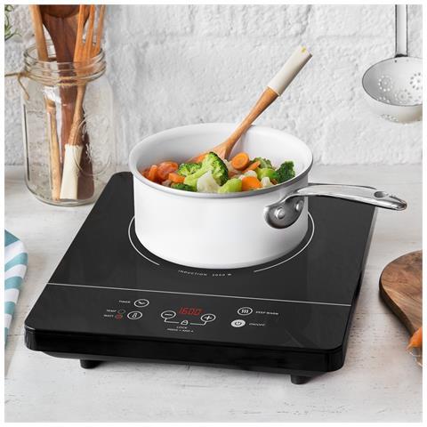 Piano Di Cottura Singolo A Induzione 2000 Watt Con 6 Programmi Di Cottura, Piastra Da Cucina Mobile A Induzione