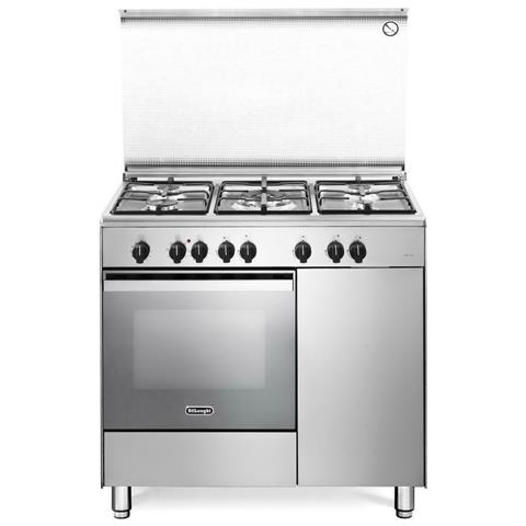 Cucina Elettrica DEMX 96 B5 ED 5 Fuochi a Gas Forno Elettrico Ventilato Classe A Dimension...