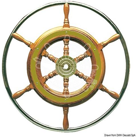 Timone con cerchio inox cm 52