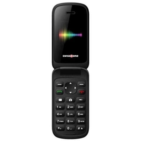 """SWISSTONE SC1330 Display 1.77"""" Dual Sim Bluetooth con Tasti Grandi Fotocamera Colore Nero - Europa"""
