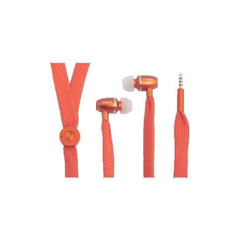 """LogiLink HS0027, Stereofonico, Interno orecchio, Arancione, Cablato, 3.5 mm (1/8"""") , Intraurale"""