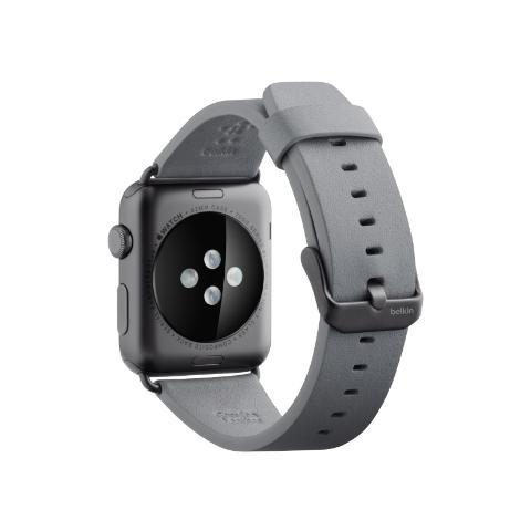 BELKIN Cinturino classico in pelle da 42 mm per Apple Watch - Grigio