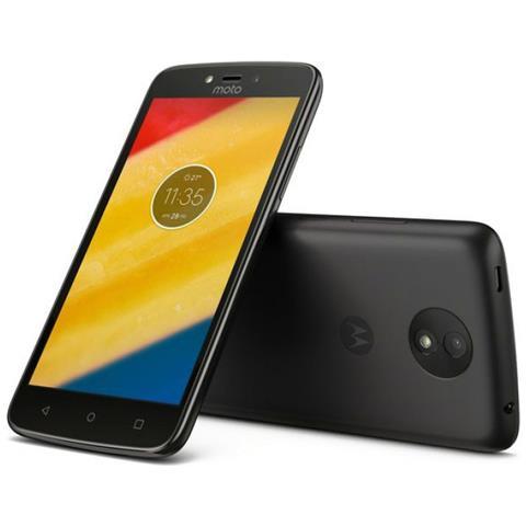 "MOTOROLA Moto C Plus Nero 16 GB 4G / LTE Dual Sim Display 5"" HD Slot Micro SD Fotocamera 8 Mpx Android Italia"