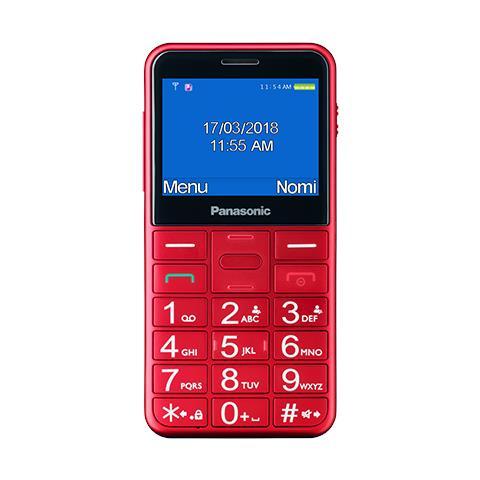 "PANASONIC KX-TU150 Senior Phone Display 2.4"" Micro SD Bluetooth con Tasti Grandi + SOS Colore Rosso"