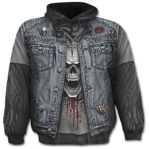 SPIRAL Thrash Metal Allover Black (Felpa Tg. M)