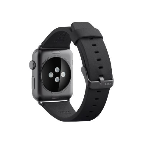 BELKIN Cinturino classico in pelle da 42 mm per Apple Watch - Nero