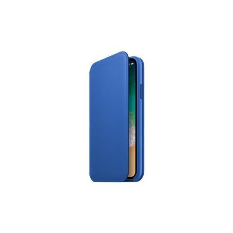 APPLE Flip Cover in Pelle colore Blu Elettrico