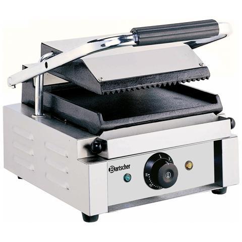 A150668 Piastra grill elettrica singola scanalata / liscia 220V 1.8 kW