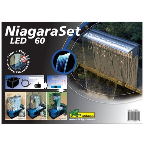 Cascate Niagara Set 60 Centimetri Con Pompa Led