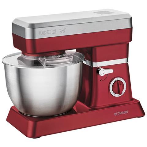 Boamann Mixer 1200 W Rosso E Argento Km 398 Cb