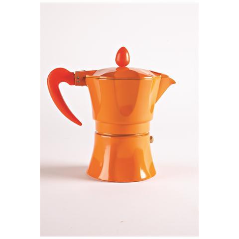 Caffettiera 3 Tazze - Modello Aroma Color Arancione