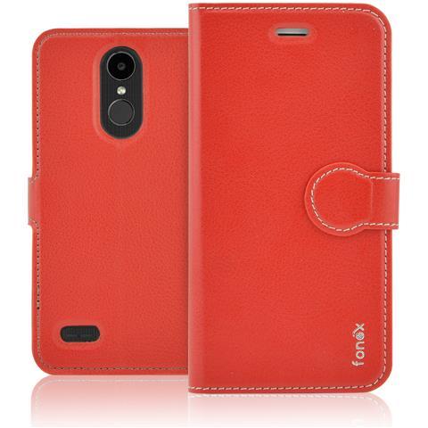 FONEX Identity Book Custodia a Libro per LG K4 2017 Colore Rosso