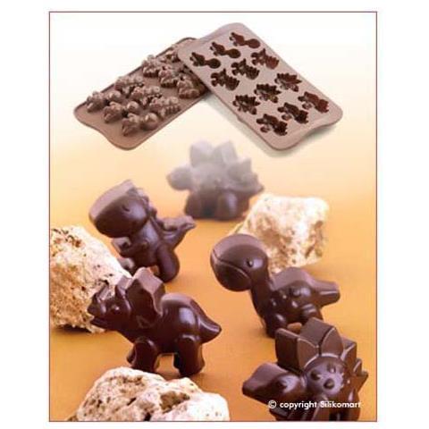 Silikomart Stampo cioccolato dino easy choc 35x30mm h. 16mm 112.5ml marro ne