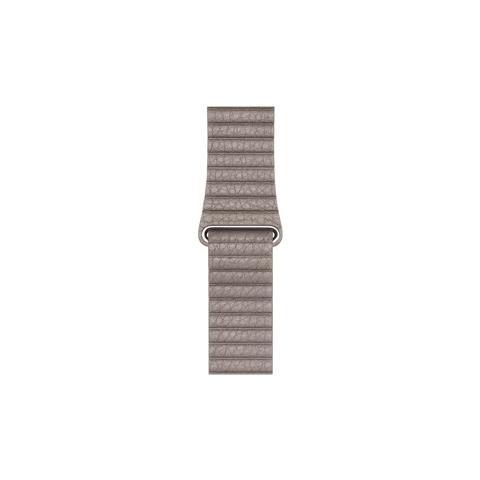 APPLE MNKY2ZM / A Band Grigio Pelle accessorio per smartwatch