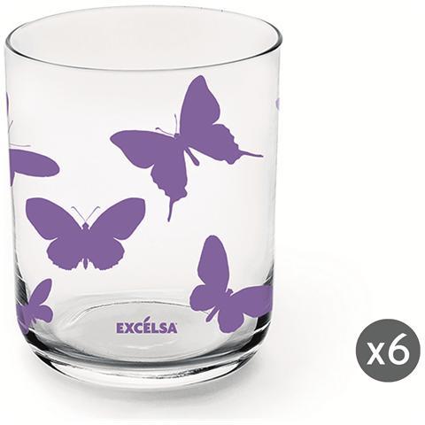 Set 6 bicchieri Enjoy lilla