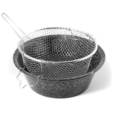 Friggitrice Ferro / porcellana Con Cestello 30sct Preparazione