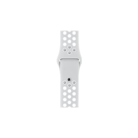 APPLE Cinturino Nike Sport platino / bianco (38 mm) - S / M e M / L