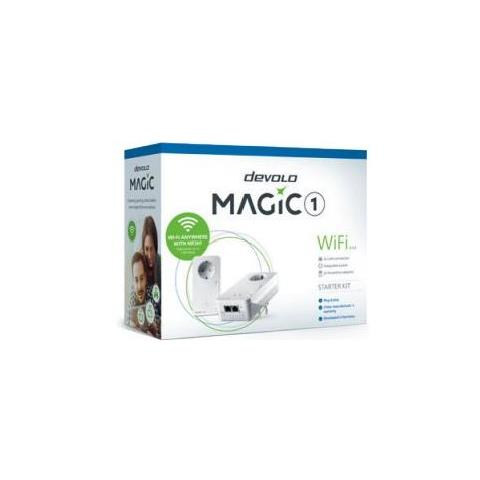 Starter Kit Adattatore Powerline Magic 1 WIFI 2-1-2 1200 Mbps con Porta Gigabit Ethernet