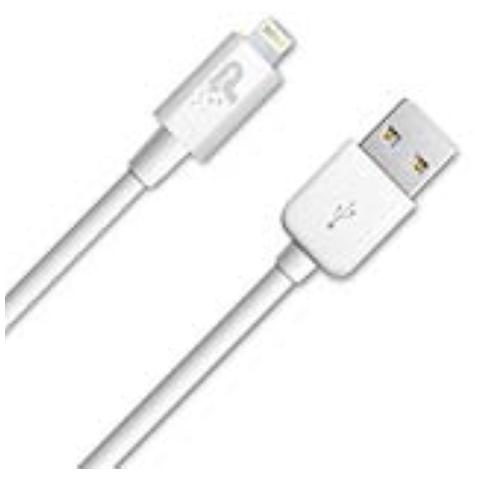 Patriot 's Sync and Charge Lightning Cavo 15 cm - Colore Bianco