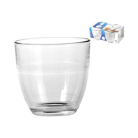 Set 12 Confezioni 4 Bicchieri In Vetro Gigogne Trasparente Cl16