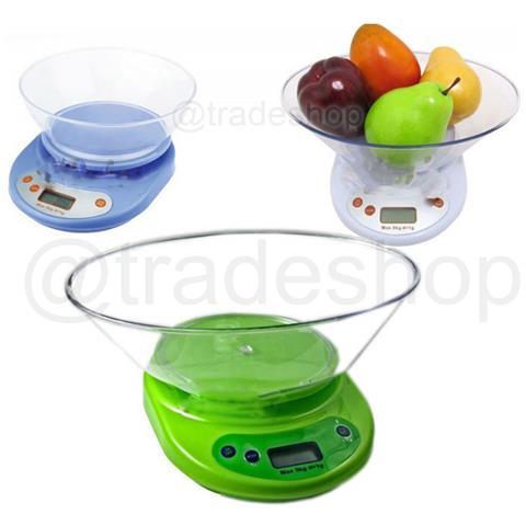 Bilancia Da Cucina Digitale Elettronica Di Precisione Pesa Da 1 Gr A 5 Kg Tara