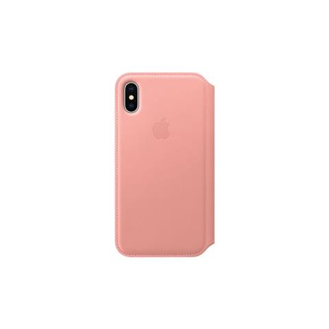 APPLE Flip Cover in Pelle colore Rosa Tenue