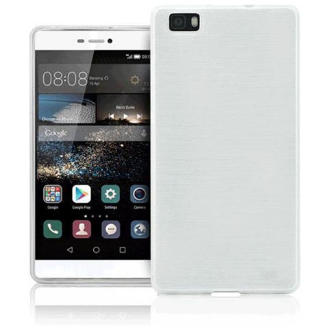 FONEX Perla Cover in Morbido TPU con Effetto Madreperla per Huawei P8 Lite Colore Bianco
