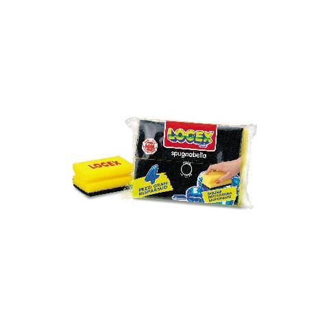 LOGEX PROFESSIONAL blister 4 spugnabella logex con impugnatura